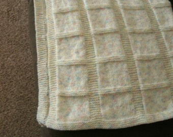 Hand Knitted Baby Afghan