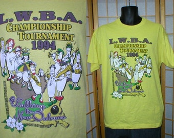 80s New Orleans bowling tshirt mens size xlarge
