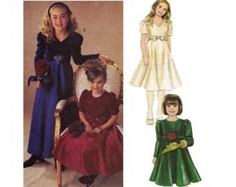Girls Dress Pattern - Girls Lined Dress Sewing Patterns - McCalls 3886 - Uncut, Factory Folds