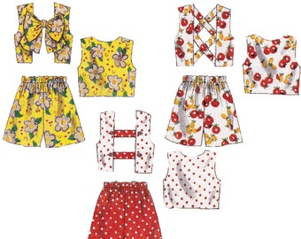 Girls Shorts and Tops Sewing Pattern - McCalls 8231 - Childs Summer Separates Pattern - Uncut, FF