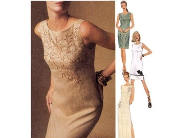 Womens Dress Sewing Pattern - Fitted Dress Pattern - McCalls 2114 - Sizes 8, 10, 12 - Uncut, Factory Folds