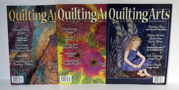 Quilting Arts Magazine--3 issues--Jun 2007 #27, Oct 2009 #41, Feb 2013 # 61