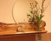"Altar Shelf with Mirror  "" Moonrise"". Reserved listing"
