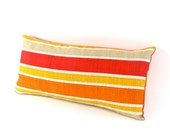 "Red, Orange and Yellow SALSA Striped INDOOR OUTDOOR Pillow Cover 12"" x 24"" - MiCasaBella"