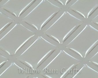 20 Rectangle Epoxy Domes to use with Shoe Lace Charm (01-05-192)
