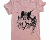 Womens CAT T-Shirt american apparel S M L XL (in 16 Colors)