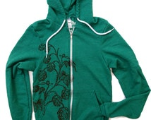Unisex HOPS Tri-Blend Hoody - American Apparel XS S M L XL (2 Color Options)