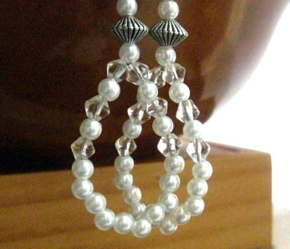 Great Gatsby Wedding Jewellery. Pearl Earrings. Roaring Twenties