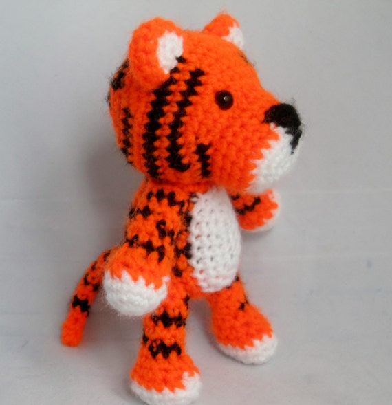 PDF Amigurumi Pattern: Baby Tiger From OrangeZoo On Etsy