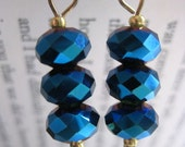 Magpie Treasures - Fire-Blue Earrings