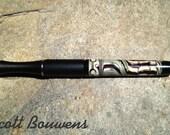 Handmade Black Lampwork Glass Bead Pen by Scott Bouwens