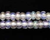99 Cent Sale:  Hank of  8/0 Czech Crystal Rainbow/A.B./Iris Glass Rocaille Seed Beads