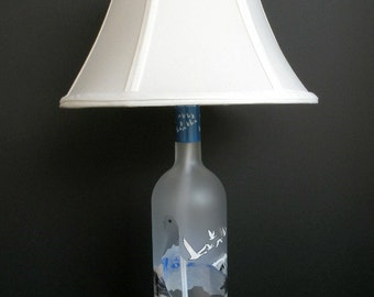 GREY GOOSE VODKA Recycled Bottle Lamp 1 Liter