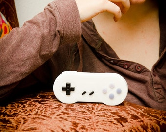 Soap Super Nintendo Controller Parody Invented By DigtialSoaps, SNES Retro Video Game Geek Gift, Mountain Dew Scent