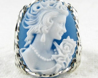 Classical Lady Rose Cameo Ring Sterling Silver Custom Jewelry