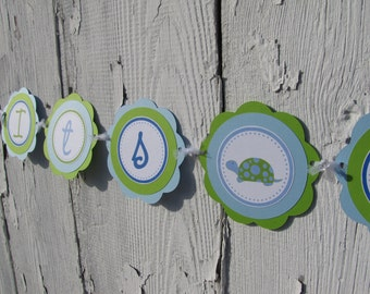 Turtle Baby Shower Decorations, Turtle Banner, Baby Shower Decorations, Customized