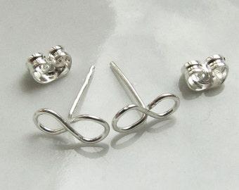 Infinity Post Stud Earrings - Tiny Infinity Loop - Silver Post Earrings  - Friendship Jewelry - Friendship Post Earrings