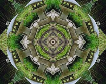Garden Lanterns Mandala - 8 x 8 Photographic Print
