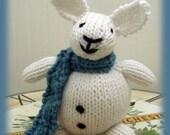 Hand Knitted Stuffed Bunny Rabbit
