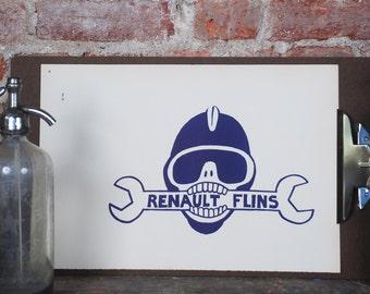 Atelier Populaire Poster Print: Renault Flins