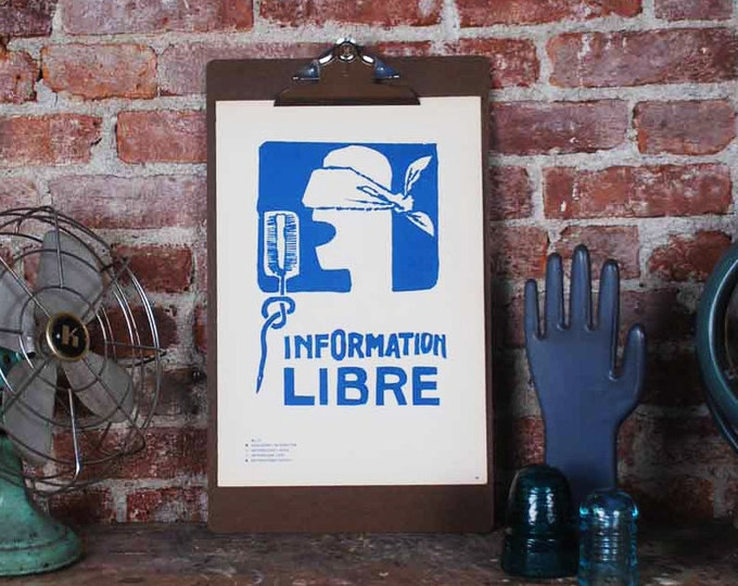 Featured listing image: Atelier Populaire Poster Print: Information Free