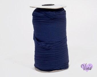 "5 Yards Denim Navy Blue   : 5/8"" inch FOE Fold Over Lingerie Elastic Baby Headbands Hair Ties"
