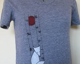 Wolf TShirt Women Grey