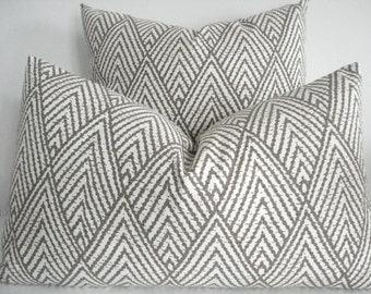 Kravet  Both Sides-- Decorative Designer Cover - Tahitian Stitch Tusk- Ivory / Taupe / Latte  Throw / Lumbar Pillows