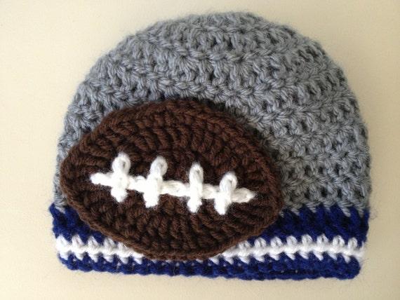 Dallas Cowboys Crochet Baby Hat Pattern : Items similar to Dallas Cowboys Football Hat, Boy Hat ...