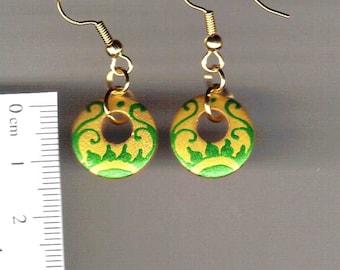 Handpainted wooden earrings -Floral