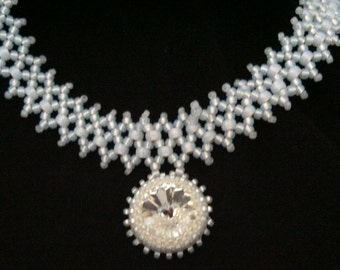 Ice Crystal  Art Deco Necklace