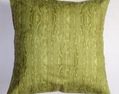 "Summer Sale - Throw Pillow Cover, Pine Green Throw Pillow Cover in Wood Grain, Handmade Pillow Cover, Pine Green Cushion Cover, 16x16"""