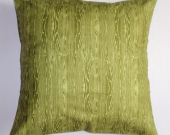 Summer SALE - Throw Pillow Cover, Pine Green Throw Pillow Cover in Wood Grain, Handmade Pillow Cover, Pine Green Cushion Cover - LAST ONE