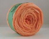 T Shirt Yarn Hand Dyed- Peach Fuzz 60 Yards