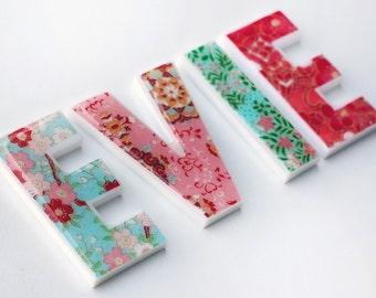 nursery decor, decorative letters for children's room - girls letters