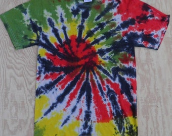 Rastaman Spiral Tie Dye T-Shirt (Fruit of the Loom Size S) (One of a Kind)