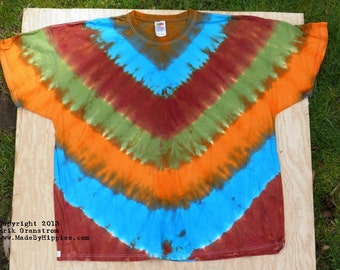 Mother Earth Tie Dye T-Shirt (Fruit of the Loom Size 4XL) (One of a Kind)