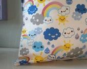 Kawaii Cloud Rain Cushion / Pillow cover