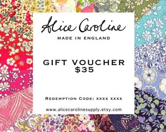 GIFT VOUCHER for Liberty Fabrics