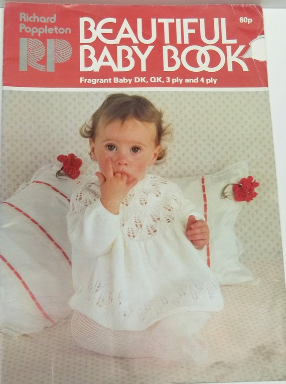 Vintage Baby Knitting Pattern Books : Vintage beautiful baby book knitting by recupefashionnstuff