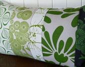 Green Panel Cushion Cover