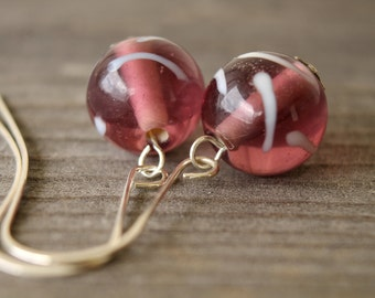 Grape Candy glass earrings