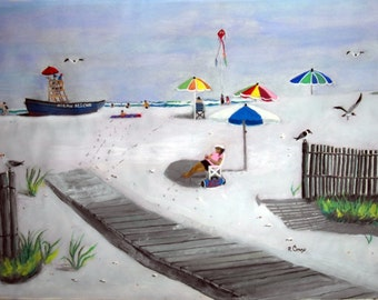 Jersey Shore Boardwalk- original-- SIGNED PRINTS 8 X 10 - 25.00, 11 x 14 30.00, 13 X 19- 35.00. Message me and I will list them.