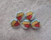 Winnie the Pooh Fabric Buttons