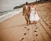 50s Style Polka Dot Wedding Dress