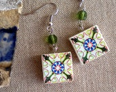 Portugal 2 in 1 Antique Tile Replicas, Green -- SWIVEL 2 SIDES (see photo of actual Facades) -waterproof - Ovar