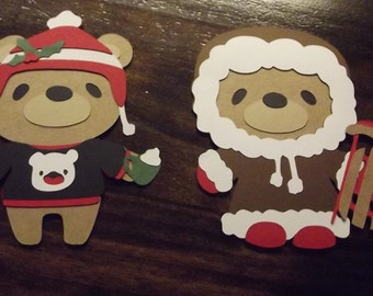 Teddy Bear die cuts- winter bears