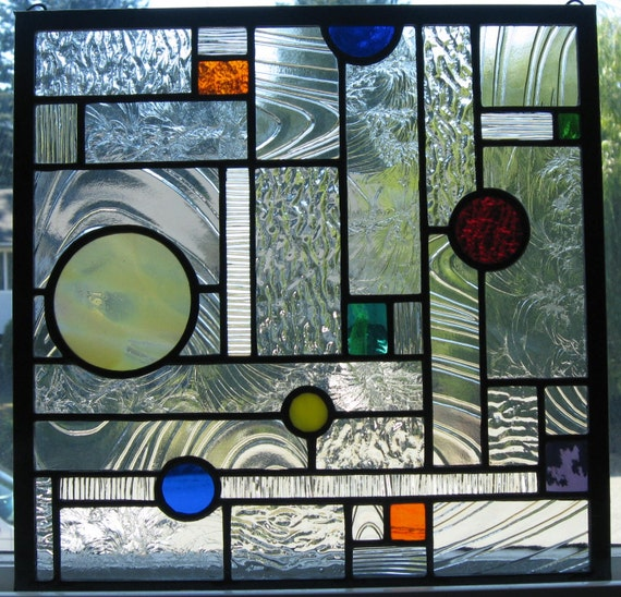 25 Modern Ideas To Use Stained Glass Designs For Home: Geometric Stained Glass Window