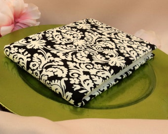 Ivory and Black Damask Wedding Guest Book ..Book Only...Buy and Add You Own Decorations..