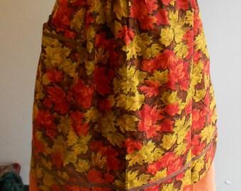 1950s floral apron
